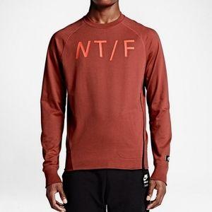 Nike Red Track & Field Graphic Logo Zip Sweatshirt
